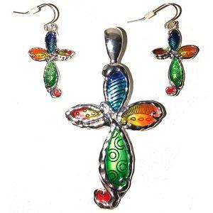 Jewelry - SEAHORSE SEAWEED CROSS JEWELRY SET